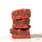 Red Velvet Oatmeal Fudge Bars