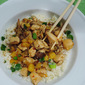 Chicken Stir-Fry with Pineapple and Mushrooms