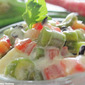 Creamy Colorful Vegetable Salad