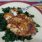 Blackened Flounder with Garlic Sautéed Kale