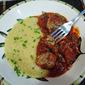 Sausage Meatballs with Marinara and Creamy Polenta