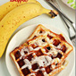 Banana waffles / How to make banana waffles