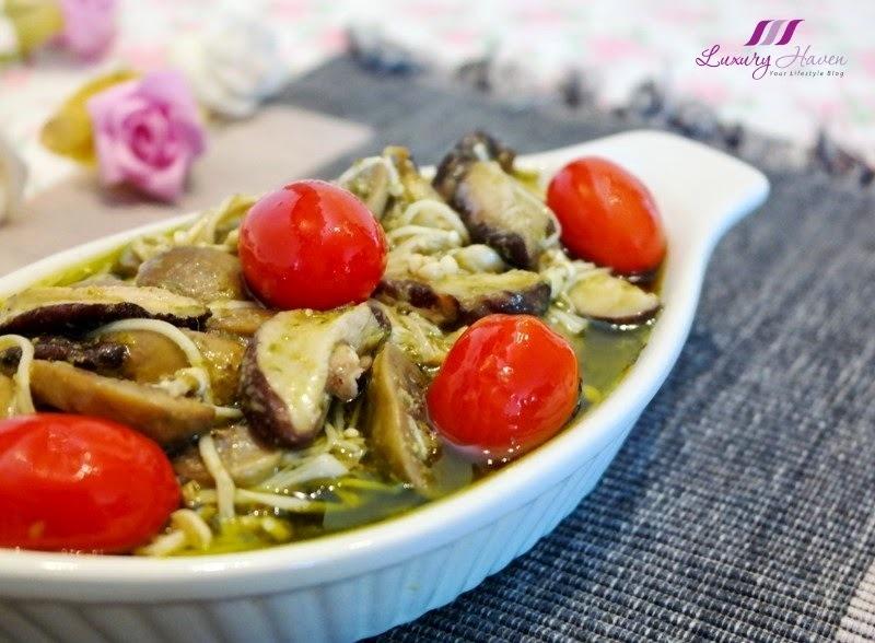 Tantalizing Baked Lemon Pesto Mushrooms Casserole