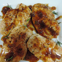 Pan-Seared Chicken Breasts with Grande Marnier and Fig Sauce