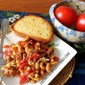 CHEESY TOMATO ITALIAN SAUSAGE SKILLET