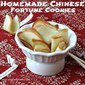 Homemade Chinese Fortune Cookies