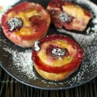 Banana Cherry Custard Muffins