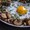Wild mushrooms with an egg yolk from French Country Cooking.