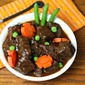 Beef Stew with Carrot Flowers