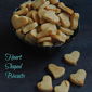 Vegan Heart Shaped Peanut Butter Biscuits