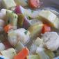 Klassisk klar suppe med melboller og grøntsager (Clear soup with dumplings and vegetables) #SoupSaturdaySwappers
