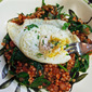 Bacon and Egg Bowl with Couscous and Spinach