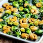Roasted Asian Shrimp and Brussels Sprouts Sheet Pan Meal