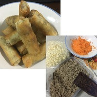 Ground Beef And Bean Sprout Lumpia (Eggroll)