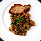 Pork Chop Maman Blanc With Fricassée of Wild Mushrooms