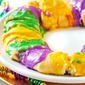 Easy Mardi Gras King Cake Recipe with Cream Cheese Cinnamon Filling