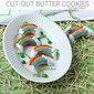 Rainbow Cutout Butter Cookies Air Fryer Recipe