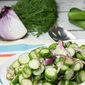 Dill & Garlic Marinated Cucumber Salad