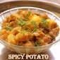 Spicy potato recipe – How to make spicy potato recipe – side dish for rotis