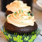 Chocolate Cupcakes with Bailey's Irish Cream Frosting #StPatricksDay