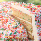 Sprinkle Cake with Swiss Meringue Buttercream