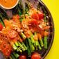 Roasted Asparagus with Smoky Romesco Sauce