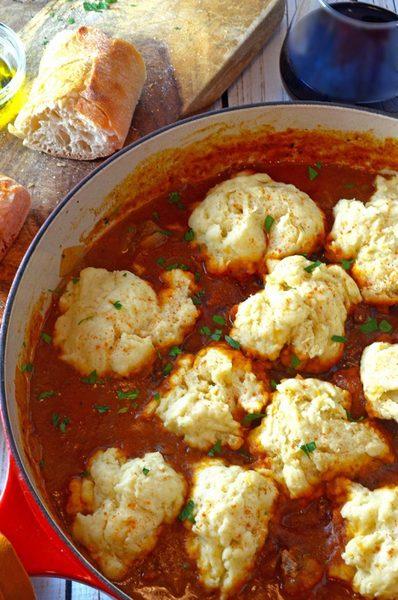 Goulash with Steamed Dumplings
