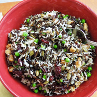 Rice Salad with Peas and Honey-Orange Dressing