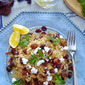 Quinoa with Dried Cranberries, Apricots, Sunflower Seeds, Feta and Coriander in Honey-Lemon Vinaigrette