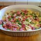 Creamy Au Gratin Potatoes With Ham And Peas