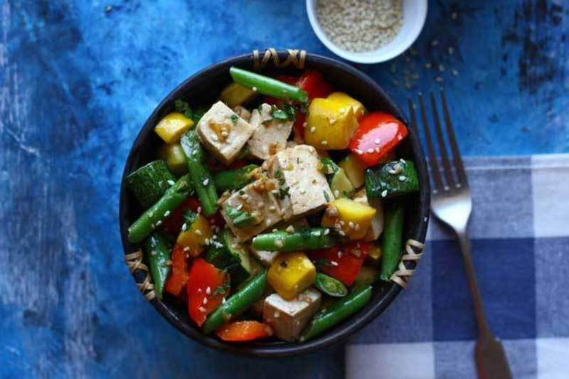 Quick Tofu and Vegetable Stir Fry