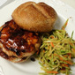 Bobby Flay's Salmon Burgers with Hoisin Sauce