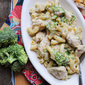 Roasted Garlic Chicken and Broccoli Pasta