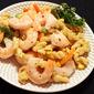 Easy Delicious Garlic Shrimp and Pasta w/Vegetables
