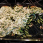 Baked Mushroom Penne with Spinach Pesto