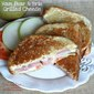 Ham Pear Brie Grilled Cheese Sandwich