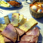 PASTIERA {Egg noodle ham savoury casserole torte}