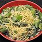 Spaghetti With Asparagus, Green Garlic; Spring