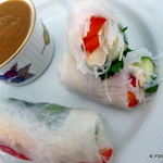 Asian style SPRING rolls with Peanut butter sauce