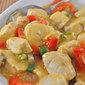 Stir-Fried Lemon Chicken, more green garlic