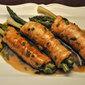 Turkey Rolls with Asparagus and Green Garlic; art