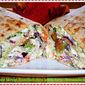 Tilapia Wrap Sandwiches with Feta-Avocado Slaw...Featuring Gorton's Tilapia Fish Sticks