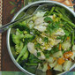 Asparagus & Chicken with Turmeric Dressing