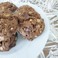Chocolate Pudding Oat Nut Spice cookies