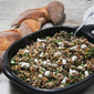 Fast and Cool, French Lentil Salad With Goat Cheese and Toasted Walnuts.