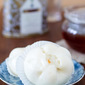 Chinese steamed buns with pork and salted egg filling