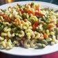 Fusilli Salad with Fresh Cilantro and Sweet Peppers