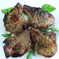 Molasses-Brined Roast Pork Chops with Herb Butter