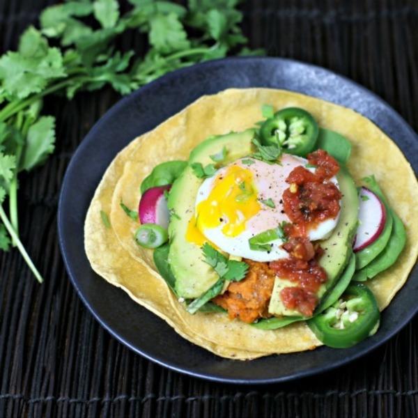 Sweet Potato Pinto Bean Breakfast Taco