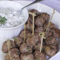 Greek Meatball Lettuce Wraps with Homemade Tzatziki